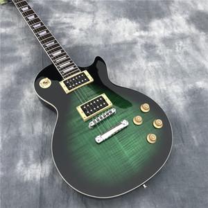 nuovo 1959 R9 les tigre fiamma Paul chitarra elettrica di serie del LP 59 chitarra elettrica, di colore verde, trasporto libero di SME