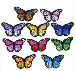 Big Size borboleta remendo Stripe para o miúdo roupa Tábua de passar por patch Applique costura Patches bordados DIY Etiquetas Backpack Acessórios