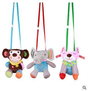 Cute baby plush baby bottle bag can hang trolley cartoon animal insulation anti-scalding bottle bag