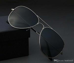 vakalar kutusu ile Moda 62mm Pilot Güneş Erkekler Kadınlar UV400 Vintage Klasik Uomo Tasarım Sunglass Sürüş Bandı Güneş Gözlükleri OTLAR Soğuk