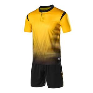 2019 2020 Badminton takım en kaliteli rengi sarı Badminton gömlek seti