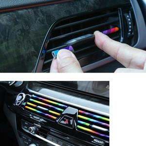 Vetture 10X Accessori auto interni colorati Climatizzatore Uscita Aria decorazioni Striscia universali sagomate fai da te