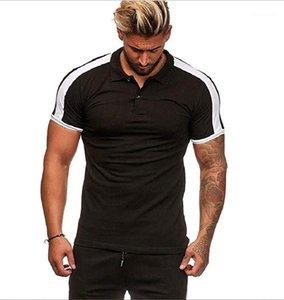 Mens Short Sleeve T-shirt Tees Summer Casual Fashion T Shirt Mens Basic Top Designers Lapel T-shirt