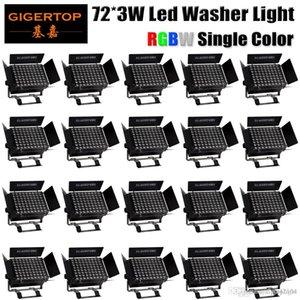 Luz Stage TIPTOP 20 unidades 72x3W RGBW 4 cores High Power LED PAR Stage Fast Light LED envio Par Lighting RGBW mistura de cores Luzes do partido