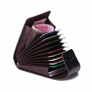 أزياء للجنسين الأعمال معرف بطاقة الائتمان محفظة حامل اسم بطاقات حالة الجيب المنظم 9 فتحات بطاقة + 2 موقف متعدد الوظائف