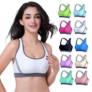 Multicolors ! Women Padded Top Athletic Vest Gym Fitness Sports Bra Tops Stretch Cotton Seamless popular Yoga Outfits