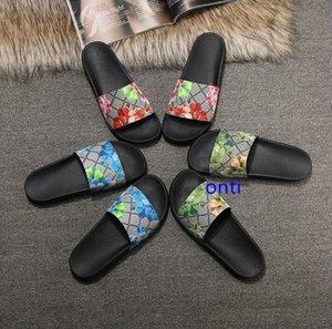 Uomini Donna Sandali scorrere del progettista scarpe di lusso di moda estate ampio appartamento Slippery Sandals Slipper flip flop dimensioni 35-46 fiore