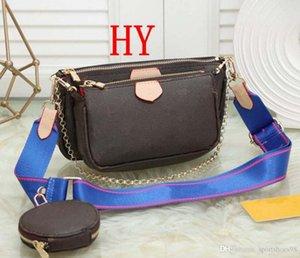 Mujeres favoritos mini bolso pochette 3 piezas accesorios bolso crossbody vintag bolsas de hombro m44823 oxidantes monederos de cuero correas de varios colores