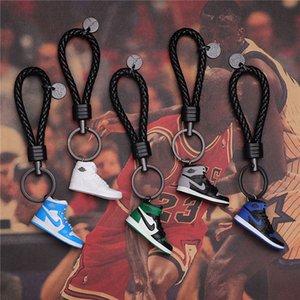 marca DHL Keychain AJ Key Acessórios Anel Encantos Sapatilha 3D telefone móvel Shoes pulseira passadeira Basquetebol 24 estilos