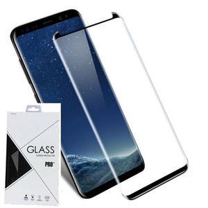 Verre trempé à couverture intégrale / en verre trempé à couverture complète 3D courbé pour Samsung Galaxy S8 S8 PLUS S9 S9 PLUS NOTE 8 NOTE 9 Au détail 200p