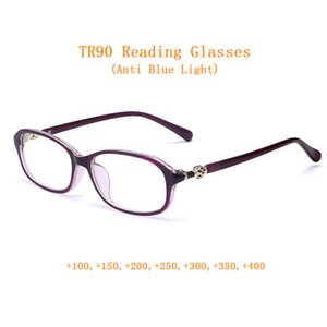 Mode Urltralight for Female Lecture Lunettes Femmes Loupe bleu 3Color Presbyopic Sightopic + 1.0 ~ + 4.0 Anti-TR90 Lumières Light Eyeglasses Ehdks