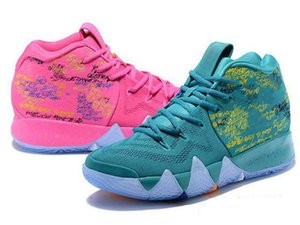 New Arrival 4s Kyrie IV Lucky Charms xshfbcl Basketball Shoes Men Top Quality Irving 4 Confetti Color Green Designer Trainers off Sneakers