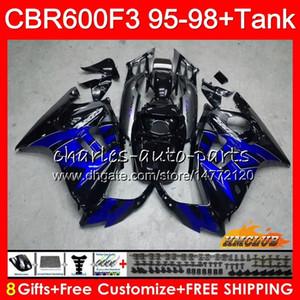 Body + réservoir pour HONDA CBR CBR600FS 600F3 1995 1996 1997 1998 CBR 600 FS 41HC.126 600CC CBR600 F3 F3 CBR600F3 95 96 97 98 bleu usine carénages