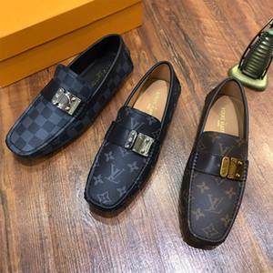 Top Qualität Echtes Leder Schuhe 2020 neueste klassische Mode-Business Wohnungen bequeme Erbsen beschuht beiläufige Faulenzer Mensschuhe mendriving