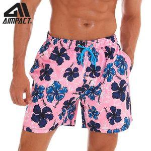 Aimpact Men's Quick Dry Hybird Board Shorts Casual Homewear Holiday Cute Flower Plus Size Beachwear Surf Male Swim Trunks AM2190