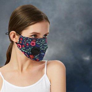 Viso del cotone di stampa di lusso Mask Designer Maschere anti PM2.5 Polvere di fabbrica diretto Anti Smog maschere antipolvere fendinebbia con la respirazione maschere valvole