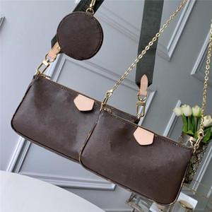 823Three peças bolsa clássica do estilo da pequena e leve zíper com pequeno saco pendurado pode estar de volta oblíquo ombro para trás
