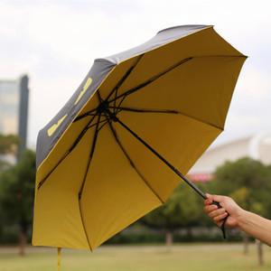 Чертенок Зонт черного покрытие UV защита Зонтики ветрозащитного Солнцезащитный зонтик Четыре Складные Солнечные Дождливые Зонтики DBC DH1374