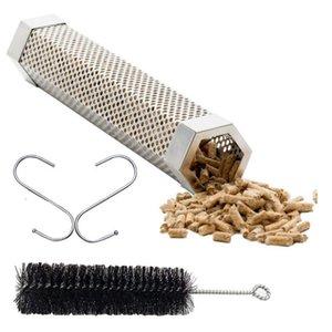 Churrasco de aço inoxidável Acessórios Malhas perfurado malha Smoker Tubo Churrasqueira Gerador Smoker Filtro Ferramenta