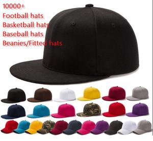 de atacado Homens Mulheres Futebol Basquete Baseball snapbacks Todas as equipes equipado Chapéus Hip Hop Sports Hat Ordem Mix moda tampão ao ar livre 10000 +