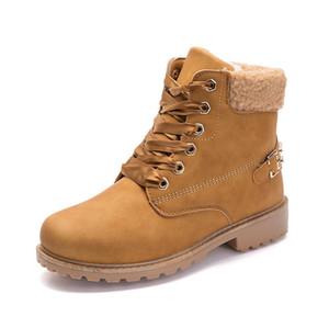 Autumn and winter new Martin boots women's cotton plus velvet warm boots rivet women's boots boots2019