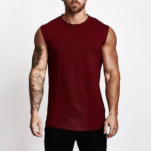 Gilet Débardeurs été Vêtements pour hommes solides Couleur Gym BodyBuilding Comfy Muscle Respirant Confortable Nouveau Homme