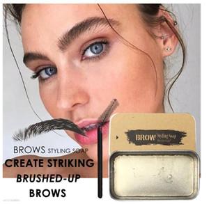 3D plumeux Sourcils Maquillage Gel Savon Sourcils Kit Long Lasting Sourcils Laminage Réglage Gel étanche Sourcils Tint Pommade Cosmetics