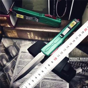 마이크로 테크 ut85 현상금 사냥꾼 야외 휴대용 접이식 전술 포켓 나이프 캠핑 포켓 나이프 D2 에어 알루미늄 고품질