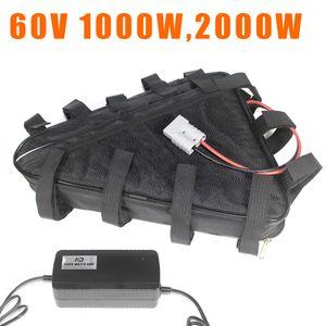 60V 20Ah 30Ah triângulo de iões de lítio baterias Ebike bateria bicicleta eléctrico 60 volts 2000w 1500w 1000w bateria
