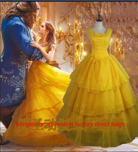 Film Princess dress and Television real-life version beauty and beast Bell princess dress cosplayclothing female adult one