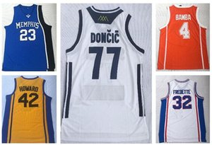 Desconto barato 2019 MENS 23 ROSE 4 BAMBA 42 HOWARD 77 32 FREDETTE Camisas de basquetebol camisas TOPS, formadores MEN moda loja on-line à venda