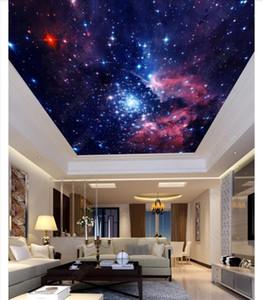 Пользовательские 3D шелк Зенит фреска обои фото украшения красочные звездное небо спальня Зенит потолок фреска фон стикер стены