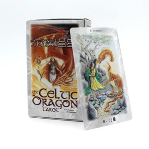 New The Dragon Tarot Cards Factory Made High Quality Tarot Card With Colorful Box, Cards Game, Board Game 78pcs, 8 * 12cm
