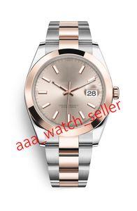 12 Arten Master Luxury Herrenuhren 41mm DateJust 126301 126303 Zwei Ton Rose Goldsteel Armband geriffelte Lünette mechanische automatische Uhren