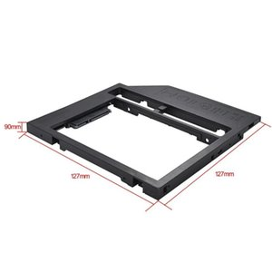 Universal 2nd HDD Caddy 9mm SATA 3.0 for 2.5'' Hard Disk Drive SSD Case Enclosure for Notebook CD-ROM Optical Bay