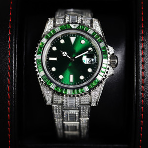 Set in drill Special version 116610LV-97200 116610LN Swiss Cal.3135 Automatic Green Dial Mens Watch 904L Steel Diamond Band Designer Watches