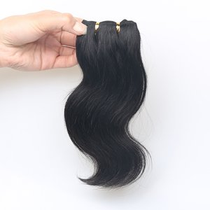 Bodywave 50g brasiliana di estensioni dei capelli dei capelli umani Black Wave capelli Extentions Natural Color