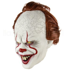It 2 Joker Pennywise de silicone Film Stephen King Masque Horreur Full Face Clown Latex Masque Halloween Party cosplay Prop Horrible masque RRA1930