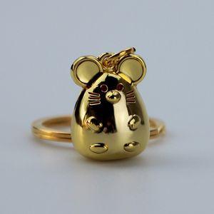 Creative 12pcs / Lot drôle Fat Rat Porte-clé de haute qualité Trousseau métal mignon souris exquis Keyring Hommes Femmes Bijoux cadeau Porte-clés