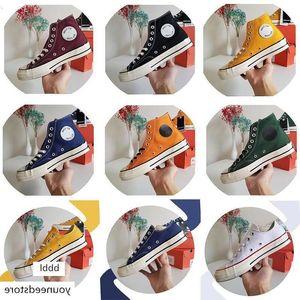 2019 Fashion men women canvas shoes 1970s Triple black dark blue stripe skateboarding casual shoe walking sneakers size 36-44 #0124cd#