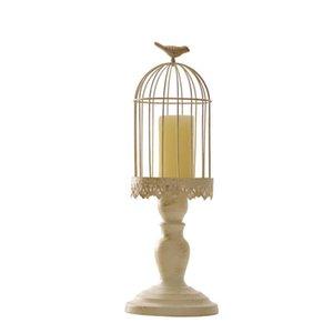 Candelabro Europea Cubo Soporte Porta velas tallado sostenedor de vela de la boda candelabros hueco blanco jaula de pájaros Decoración del hogar
