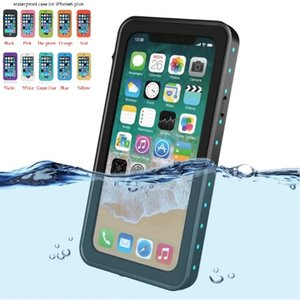 مقاوم للماء iPhone11 PRO XR ماكس XS 8Plus 7 6S Redpepper ضد الصدمات حالة Snowproof مع بصمة الاستشعار التي تعمل باللمس حالة سباحة