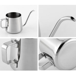 New 250ml 350ml Stainless Steel Teapot Drip Coffee Pot Non-stick Drip Long Spout Kettle Cup Home Kitchen Tea Tools