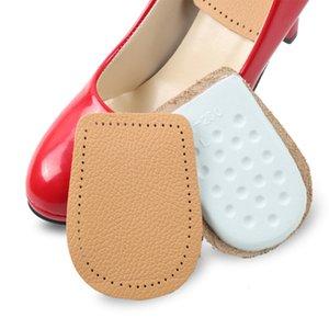 Pain Relief Cattle Hide Elastic Latex Heel Half Shoe Pad Shoe Cushion Comfortable Buffering Insole New 2018