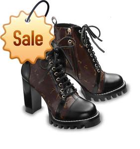 Entrega libre del invierno del otoño del patrón mujeres del cuero genuino botas largas de tacón negro puntas de los pies zapatos de las señoras