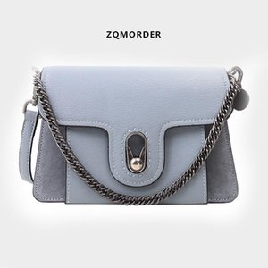 Luxurious2019 Satchel Oblique Packet Cowhide Small Square Chain Hand Bill Of Lading Shoulder Genuine Leather Woman Package