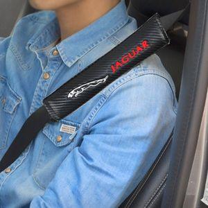 S XJ6 XF Cover XFR Pad Jaguar XK Fiber F TYPE Car XJ Belt XFL Carbon 2pcs set Shoulder Safety Uixgr