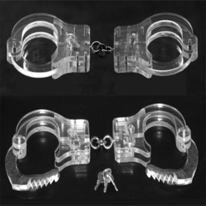 Cuello Muñeca Restricciones del tobillo Esclavo Cangue PP Esposas de cristal Grilletes # R34