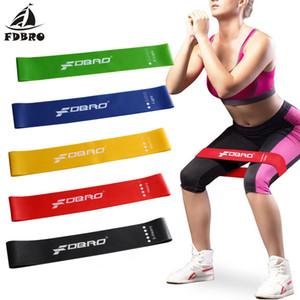 FDBRO Yoga Direnci Lastik Bant Spor Eğitimi Elastik Bantları Egzersiz Döngüler Lateks Yoga Salonu Gücü Atletik Fitness Ekipmanları 1 torba / 5 renk
