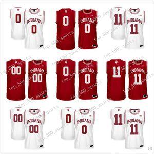 Personalizado Indiana Hoosiers Branco costurado vermelho personalizado qualquer nome Qualquer número # 4 Victor Oladipo 11 Thomas NCAA College Basketball Jersey S-3XL